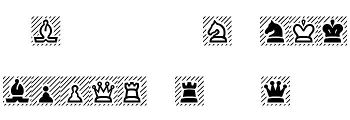 Chess Regular Font UPPERCASE