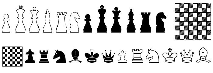 Chess TFB Font UPPERCASE