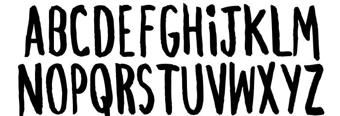 ChezVous-Regular फ़ॉन्ट अपरकेस