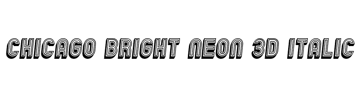 Chicago Bright Neon 3D Italic  Free Fonts Download
