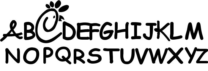 Chick-fool-A Font UPPERCASE