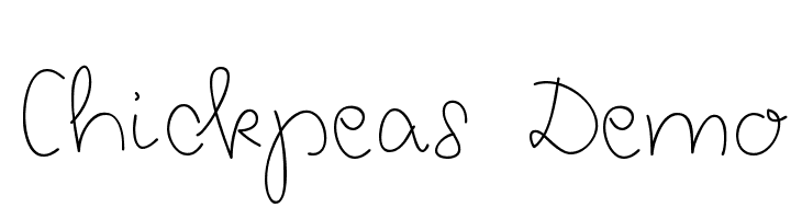 Chickpeas Demo  Free Fonts Download