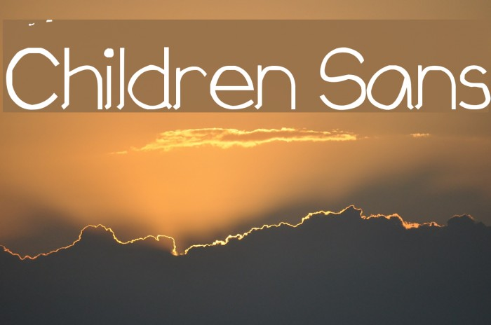 Children Sans Fonte examples