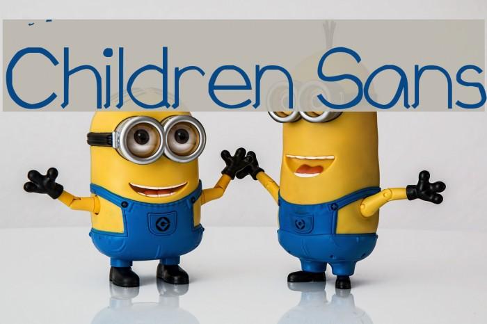 Children Sans Font examples