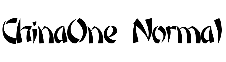 ChinaOne Normal  Free Fonts Download