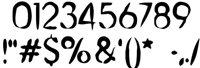 Chinese Brush Шрифта ДРУГИЕ символов