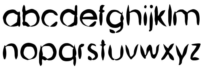 Chinese Brush Шрифта строчной