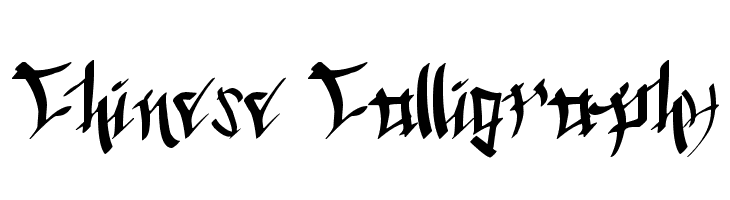 Chinese Calligraphy  Free Fonts Download
