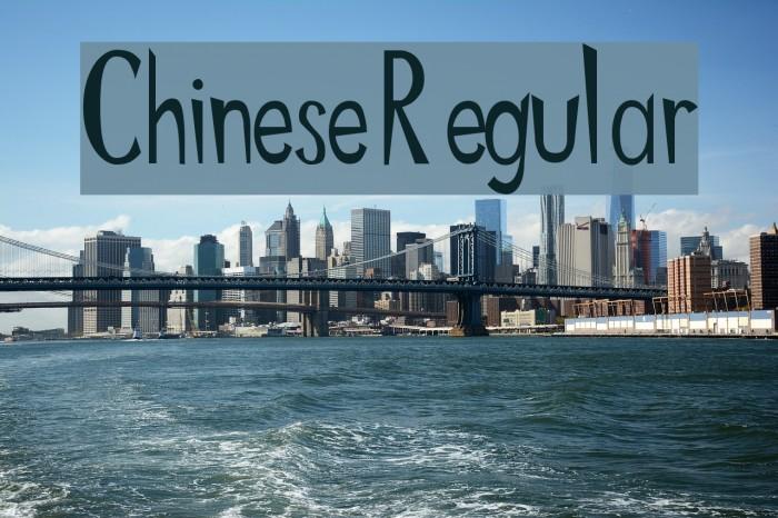 Chinese Regular Шрифта examples