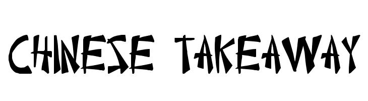 Chinese Takeaway  Скачать бесплатные шрифты