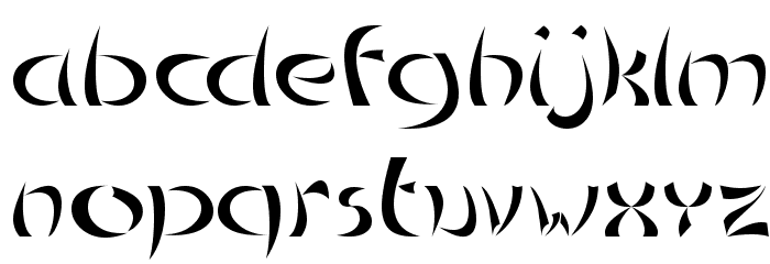 Chinoiseries Tryout Font LOWERCASE