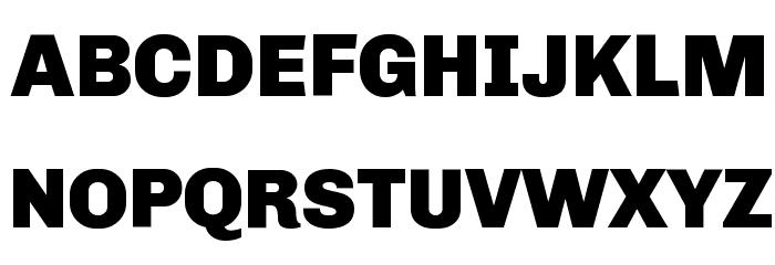 Chivo Black Font UPPERCASE