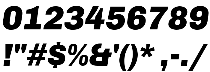 Chivo-BlackItalic Font OTHER CHARS