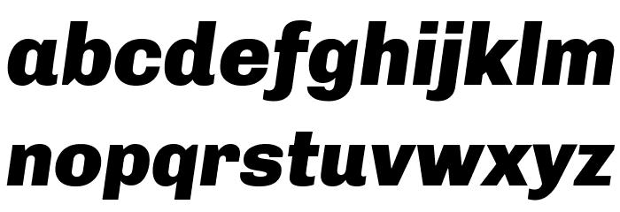 Chivo-BlackItalic Font LOWERCASE