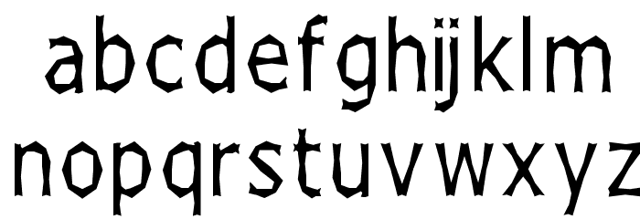 Chizzler Thin Font LOWERCASE