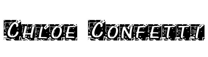 Chloe Confetti  नि: शुल्क फ़ॉन्ट्स डाउनलोड