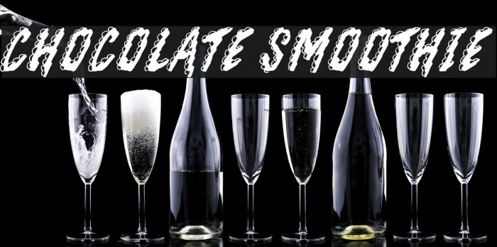Chocolate Smoothie Шрифта examples