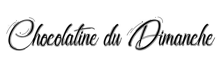 Chocolatine du Dimanche  Frei Schriftart Herunterladen