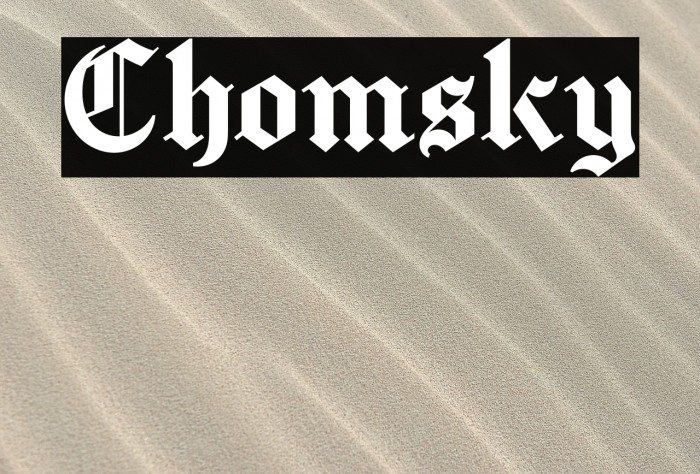 Chomsky Font examples