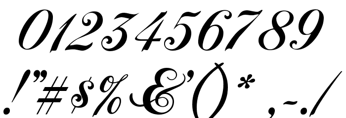 Chopin Script Font OTHER CHARS