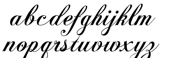 Chopin Script Font LOWERCASE