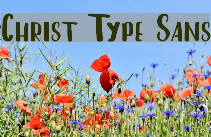 Christ Type Sans फ़ॉन्ट examples