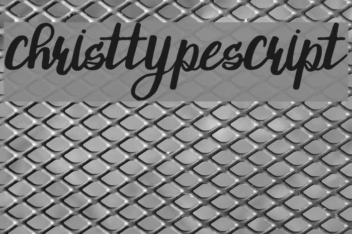 ChristTypeScript Font examples