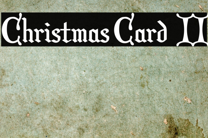 Christmas Card  II Font examples