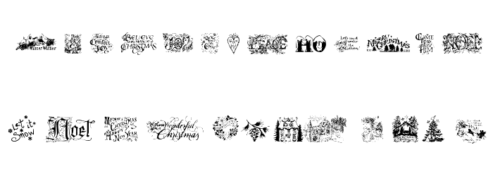 Christmas Cheer Font LOWERCASE