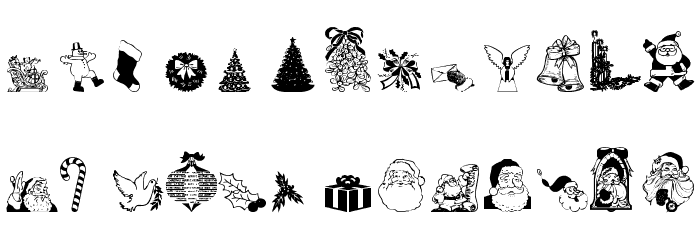 Christmas - Debbie Шрифта строчной