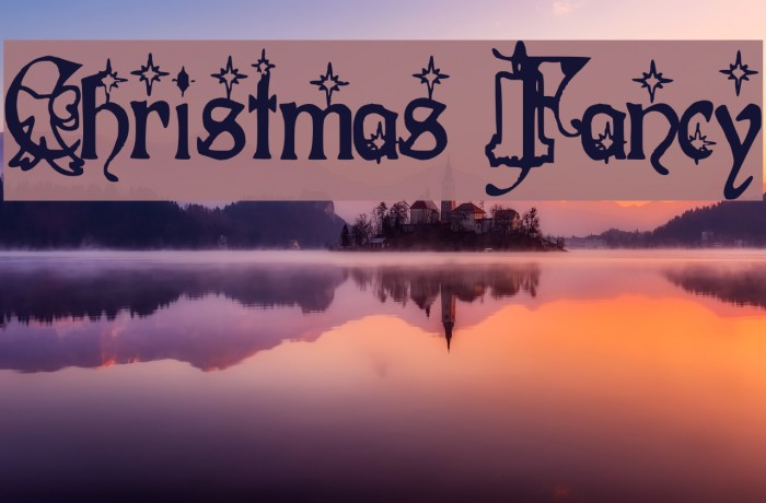 Christmas Fancy Font examples