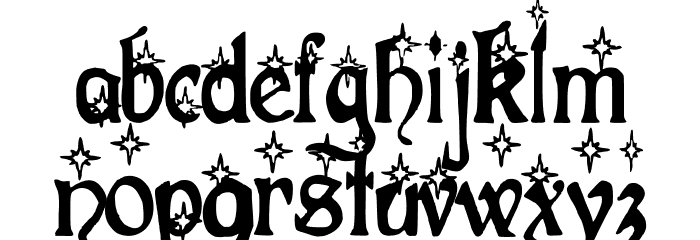Christmas Fancy Font LOWERCASE