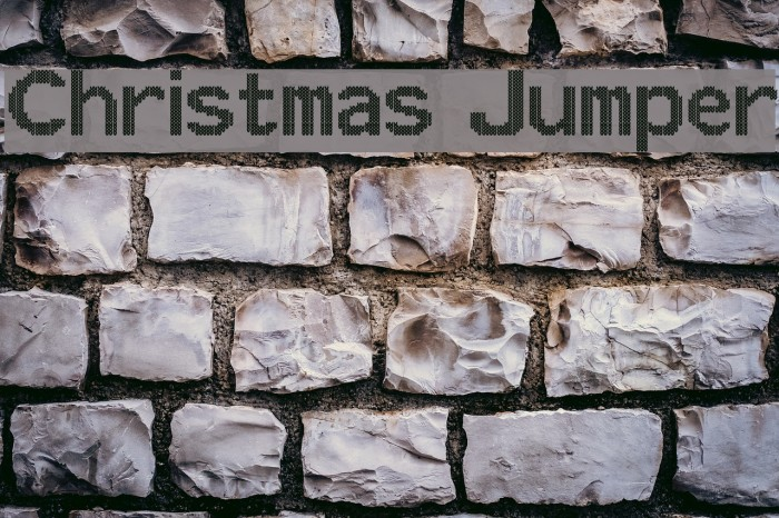Christmas Jumper Font examples