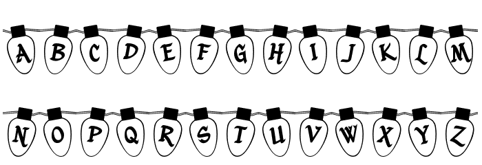 Christmas Lights Outdoor Font LOWERCASE