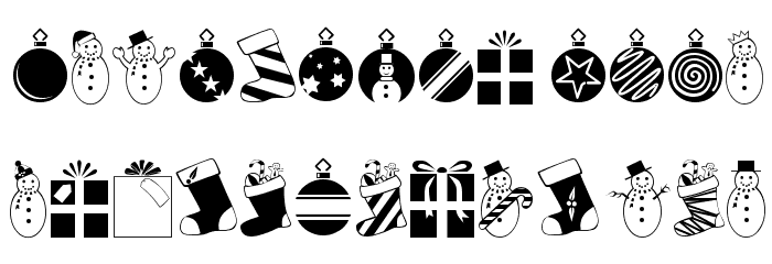 Christmas Regular Font UPPERCASE