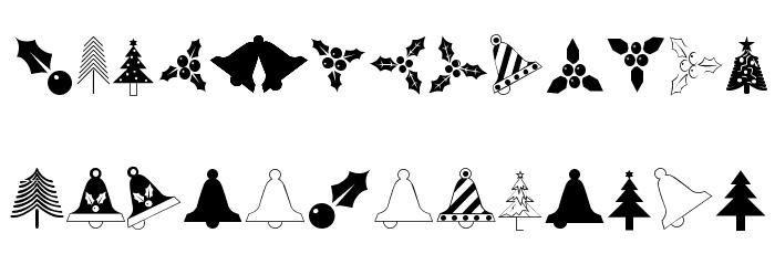 Christmas Regular Font LOWERCASE