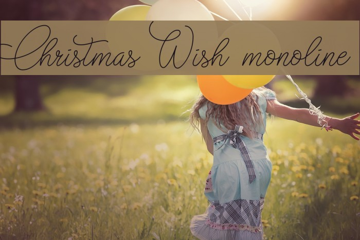Christmas Wish monoline フォント examples