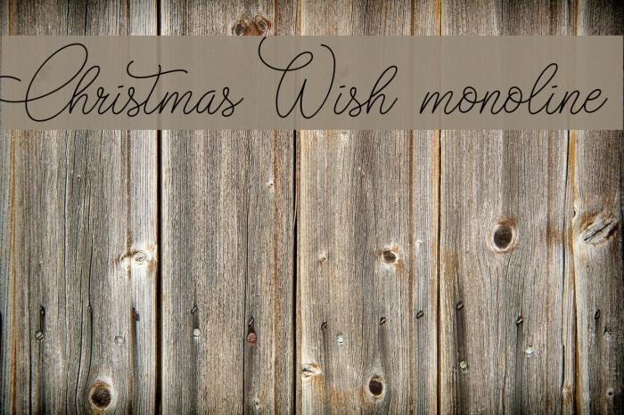 Christmas Wish monoline फ़ॉन्ट examples