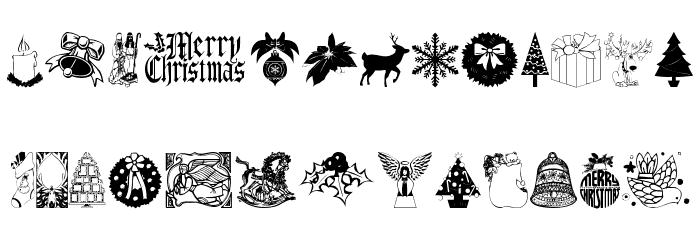 ChristmasTime Font Litere mari