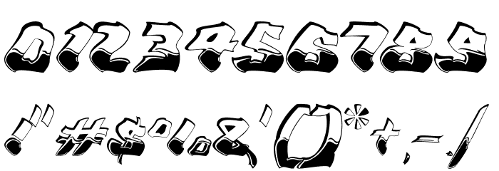 Chroma Ghost Regular Font OTHER CHARS