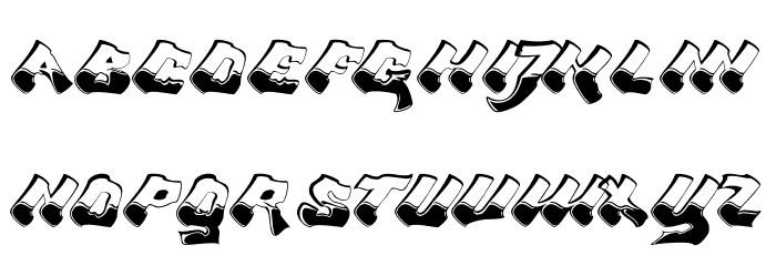 Chroma Ghost Regular Font UPPERCASE