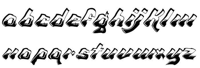 Chroma Ghost Regular Font LOWERCASE