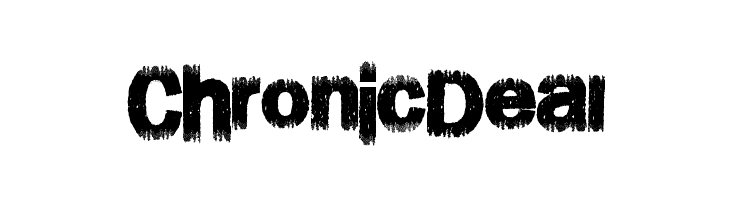ChronicDeal  フリーフォントのダウンロード