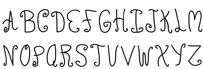 ChuCkles Font UPPERCASE