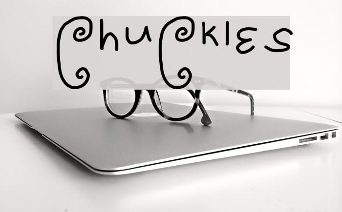 ChuCkles Font examples