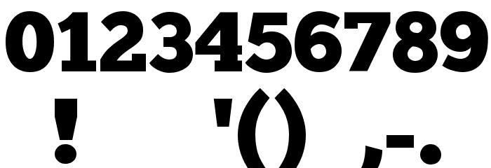 ChunkFive Regular Шрифта ДРУГИЕ символов