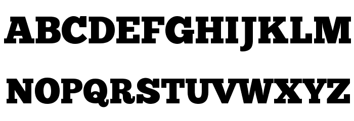 ChunkFive Font UPPERCASE