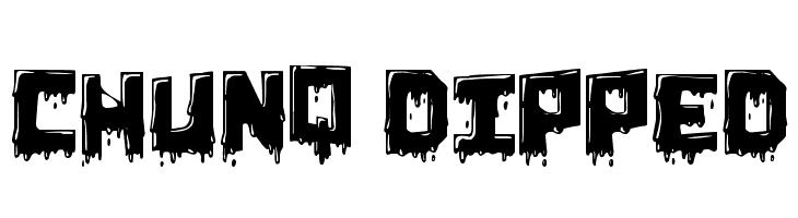 Chunq Dipped  नि: शुल्क फ़ॉन्ट्स डाउनलोड