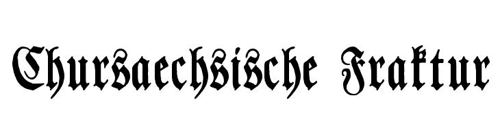 Chursaechsische Fraktur Font - free fonts download