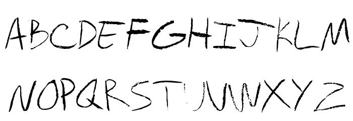 chalkboard Font UPPERCASE